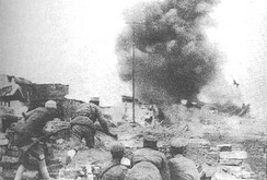 Chinese troops during the Battle of Changde in November 1943