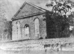 This brick church was erected in Washington, Mississippi in 1816. The first Constitution of Mississippi was written and adopted here; the state's first legislature convened here in 1817. The preliminary treason trial of Vice President Aaron Burr occurred under some nearby oak trees.[2]