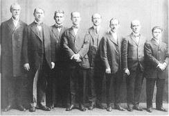 Watch Tower Board of Directors jailed in 1918 for violation of the Espionage Act
