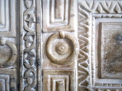 Relief on the Marble Door of the Hagia Sophia in Istanbul