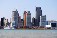 View of Downtown Detroit from the Detroit River, 2009