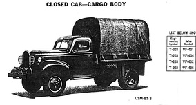Dodge VF-401 /-402 /-404 /-405 closed cab cargo