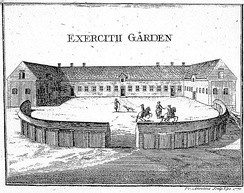 The Exercise Yard in c. 1770; contemporary engraving