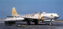 Lockheed F-80C-10-LO Shooting Star 49-8708 of the 8th Fighter-Bomber Group, Korea, 1950.