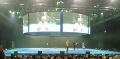 The live Super Theatre at Gadget Show Live 2013, featuring Jason Bradbury and Pollyanna Woodward