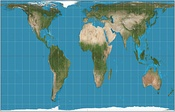 Gall–Peters projection, an equal area map projection