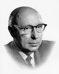 Gordon M. Shrum, the University's first chancellor