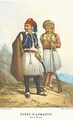 A Greek and an Arnaut wearing the Fustanella costume, Russia, 1862.