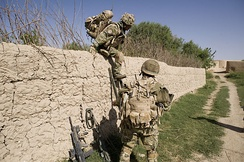Soldiers from 1st Battalion, The Royal Gurkha Rifles on patrol in Helmand Province in Afghanistan in 2010.