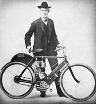 Oscar Hedstrom with the first prototype of Indian