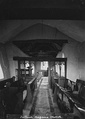 Interior of a Medieval Welsh church c.1910
