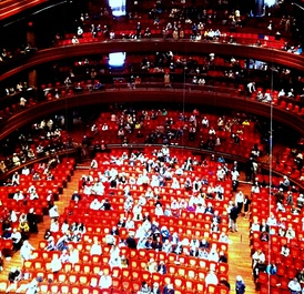 Interior of Verizon Hall at Intermission of the Philadelphia Orchestra matinee Concert on May 15, 2015.