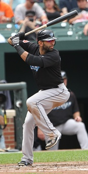 Jays right fielder José Bautista in 2011