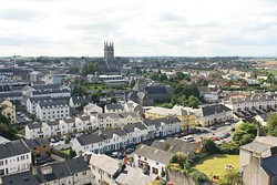 Kilkenny View from Round Tower to St Mary Cathedral 2007 08 28.jpg