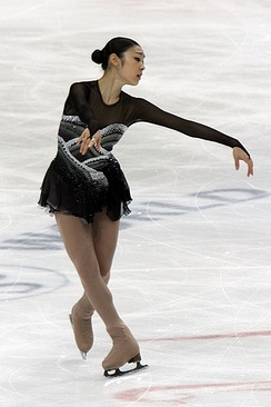 "Kim performing her free skate to ""Homage to Korea"" at the 2011 World Championships."