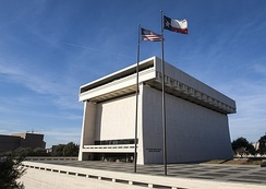The Lyndon Baines Johnson Presidential Library on the University of Texas campus in Austin