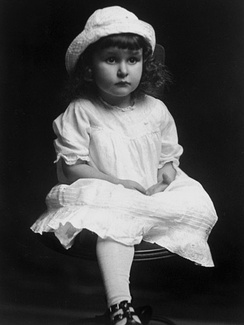 Lady Bird Taylor Johnson at about age three in East Texas