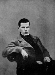 The young Leo Tolstoy, one of the many writers directly influenced by Scottish Romanticism