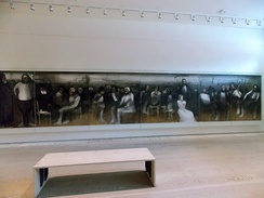 The World of Cyprus, an acrylic painting with a total length of 17.5 meters by Adamantios Diamantis in Leventis Gallery