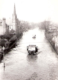 West Bridgford in the floods of March 1947