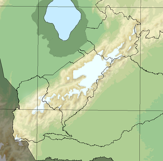 Map showing the extent of the glaciated area in Venezuelan Andes during the Mérida glaciation