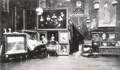 Photo by Noel Rowe of William Merritt Chase in his studio on Tenth Street New York which he held from 1875-1895