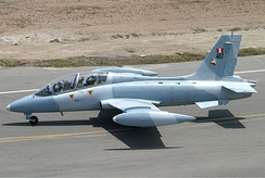 An Aermacchi MB-339 on the taxi way