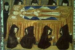 Philip IV of France lying in state