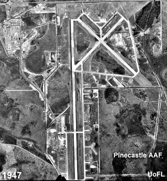 1947 aerial photo of Pinecastle Army Airfield