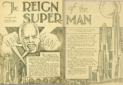 """The Reign of the Superman"", a short story by Jerry Siegel (January 1933)"