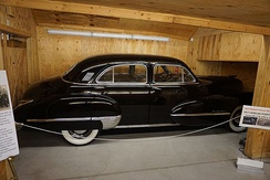 This 1947 Cadillac Fleetwood Series 62 was a gift from the House Democrats and House Republicans after he became Minority Leader. 142 Democratic congressmembers and 50 Republican congressmembers donated $25 each to purchase this car.