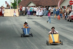 Soap Box Derby at a community celebration in Minnesota