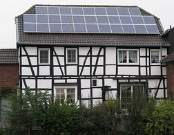 A small, roof-top mounted PV system in Bonn, Germany