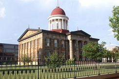 Old State Capitol: Abraham Lincoln and other area legislators were instrumental in moving the state capitol to centrally located Springfield in 1839.