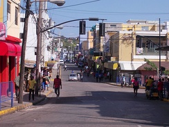 The streets of Montego Bay, Jamaica