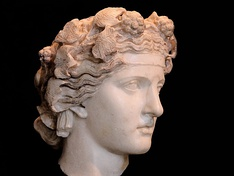 Marble head of Dionysus (2nd century AD), Capitoline Museums, Rome