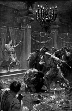 The Killing of Cleitus, by André Castaigne (1898–1899)
