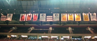 Banners hanging at the Donald L. Tucker Center