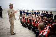 "First Phase Then-Chief of Naval Operations (CNO) Adm. Mike Mullen addresses the remaining trainees of Class 266 at the end of ""Hell Week."""