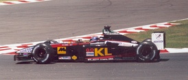 Mark Webber driving the Minardi PS02 at the 2002 French Grand Prix