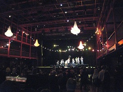 A concert taking place in the main hall of the Ancienne Belgique