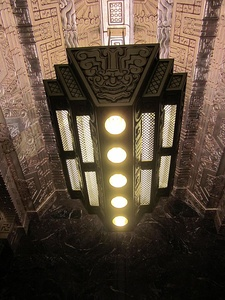 Lobby of 450 Sutter Street in San Francisco by Timothy Pflueger, (1929) inspired by ancient Maya art
