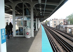 Addison station in May 2003