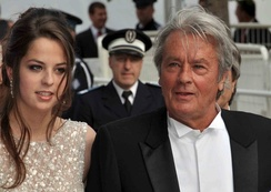 Delon with his daughter Anouchka at the 2010 Cannes Film Festival.