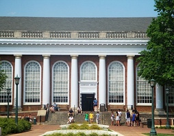 Alderman Library is home to 1.7 million books.[97] It is one of eleven libraries at UVA, and hosts one-third of the 1.9 million visitors to the system each year as of 2018.[98]