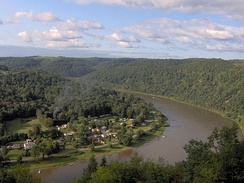 Much of the Allegheny River's course is through hilly woodlands.