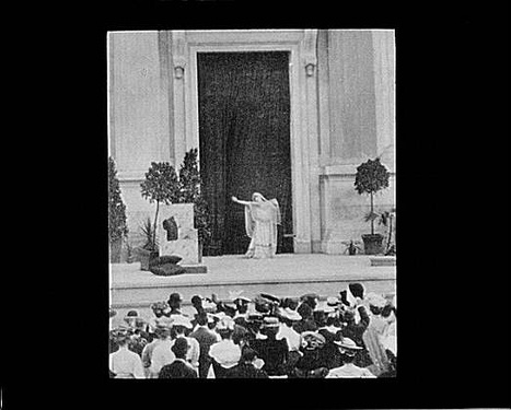 Bernhardt in the role of Phedre at the Hearst Greek Theatre at the University of California, Berkeley (1906)