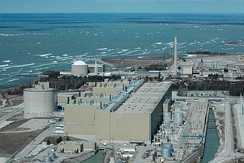 The CANDU Bruce Nuclear Generating Station on Lake Huron is the largest operational nuclear power plant in the world.