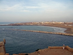 The ancient harbor at the Bou Regreg, taken from Salé facing Rabat