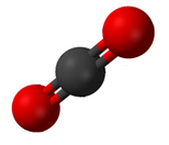 Carbon dioxide (CO2), an example of a chemical compound